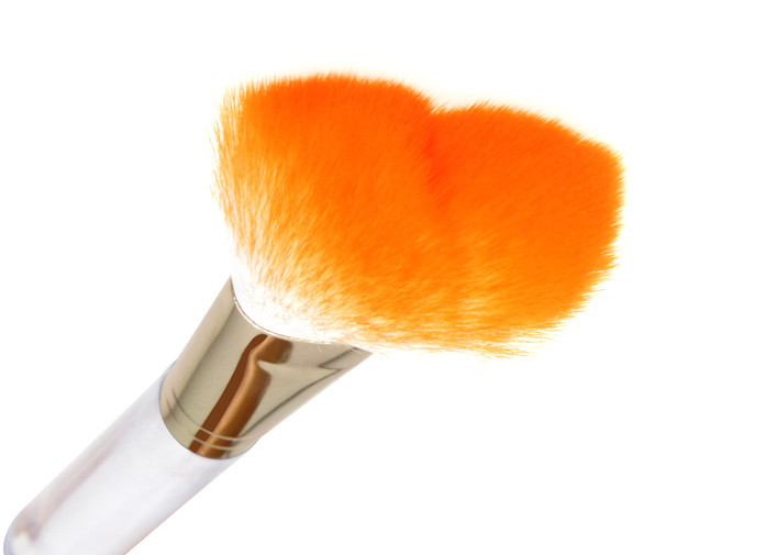 White Yellow Black Multiple Color Angled Blush Brush Nylon 55mm Hair Width