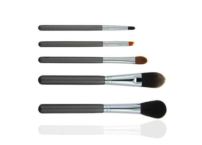 Eco-friendly Wood Handle Beauty Professional Cosmetic Brush Set With Leather Case