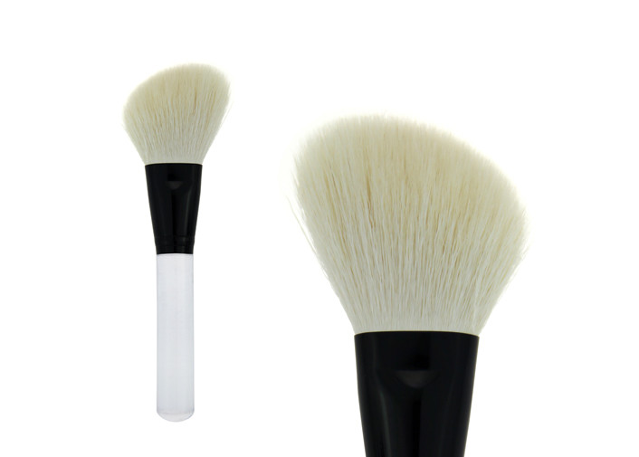 Eco Friendly White Contour Blush Brush / Flat Contour Makeup Brush