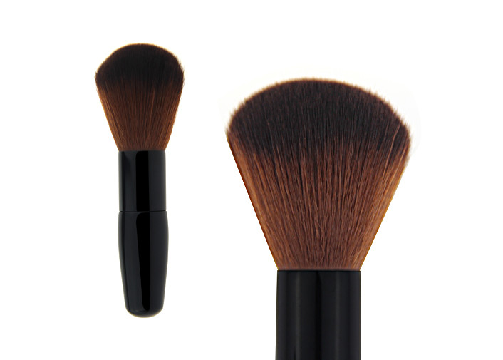 Silver Angled Contour Blush Brush , Multipurpose Powder Makeup Brush