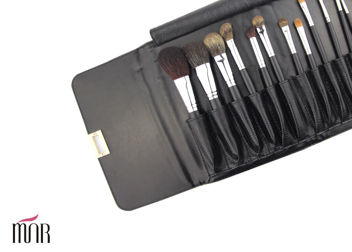Full Foundation Makeup Brush Kits With Natural Hair and Copper Ferrule