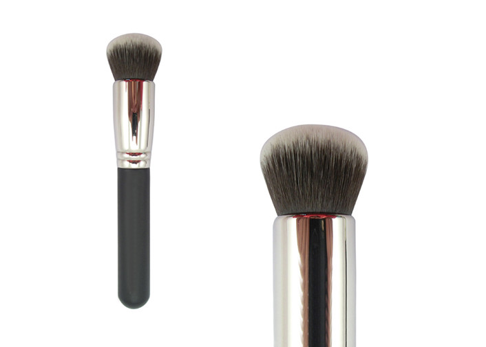 Black Short Handle Bronzer Makeup Brush Foundation Powder Brush With Goat Hair